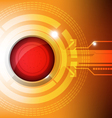 modern button technology concept vector image vector image