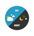 night or day with sun and moon in flat style vector image vector image