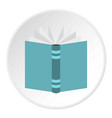 open thick book icon circle vector image vector image