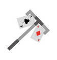 poker card with casino picker vector image vector image