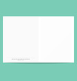 Postcard template isolated on a green background vector image