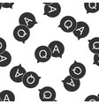 question and answer mark in speech bubble icon vector image vector image