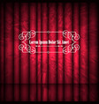 red abstract curtains and vintage frame with copy vector image vector image
