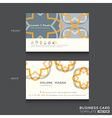 Retro Business cards Design Template vector image