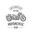 retro motorcycle club vector image vector image