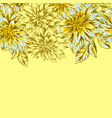 seamless pattern with fluffy yellow dahlias vector image vector image