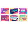 set abstract banners for social media marketing vector image vector image