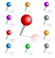 set color pins vector image