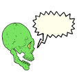 spooky skull with speech bubble vector image vector image