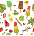 summer natural eco food seamless pattern vector image vector image