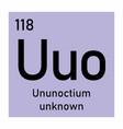 ununoctium chemical symbol vector image vector image