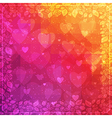 Valentines Day background with rose frame vector image vector image
