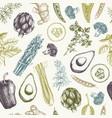 vintage vegetables background vector image vector image