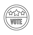 vote word in circle stamp usa elections line style vector image vector image