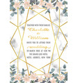 wedding invitation with eucalyptus and flowers vector image vector image