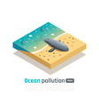 whale extinction isometric composition vector image vector image