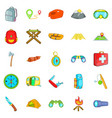 wilderness icons set cartoon style vector image vector image