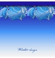 Winter frozen glass background Blue hoarfrost vector image vector image
