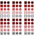 Big set of stop signs vector image
