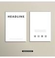 Magazine cover template with clean fronts eps vector image