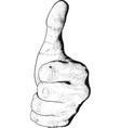 hand show like vector image