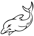 angry dolphin sketch vector image vector image
