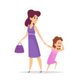 Bad behavior little girl crying isolated mother