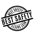 Best Safety rubber stamp vector image vector image