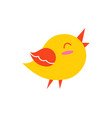 bird in good mood creature vector image vector image