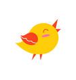 bird in good mood creature vector image vector image