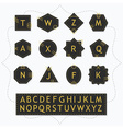 Black and golden silhouette alphabet emblem set vector image vector image