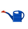 blue plastic watering can isolated on white vector image