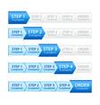 Blue Progress Bar for Order Process vector image vector image
