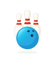 bowling ball and pins vector image vector image