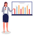 business woman or manager gives presentation vector image vector image