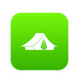camping tent icon digital green vector image vector image