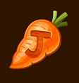 carrot icon for slot game vector image vector image