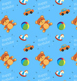 Children Toys Happy Birthday Pattern vector image