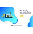 concept web security modern conceptual for vector image vector image