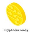 crypto currency icon isometric style vector image