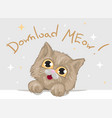 cute kitten with big beautiful eyes and fluffy vector image