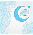 decorative design for holy month muslim vector image vector image