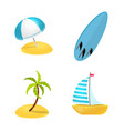 design equipment and swimming symbol vector image