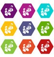 election speak conference icons set 9 vector image