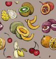 exotic seamless pattern with summer fruit vector image vector image