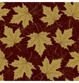 Fall leaf seamless pattern Autumn foliage vector image vector image