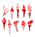 Flaming torchs vector | Price: 1 Credit (USD $1)