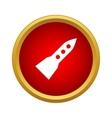 Flight rocket icon simple style vector image vector image