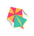 flying kite entertainment and active pastime vector image vector image