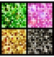 Four seamless mirror mosaic vector image vector image